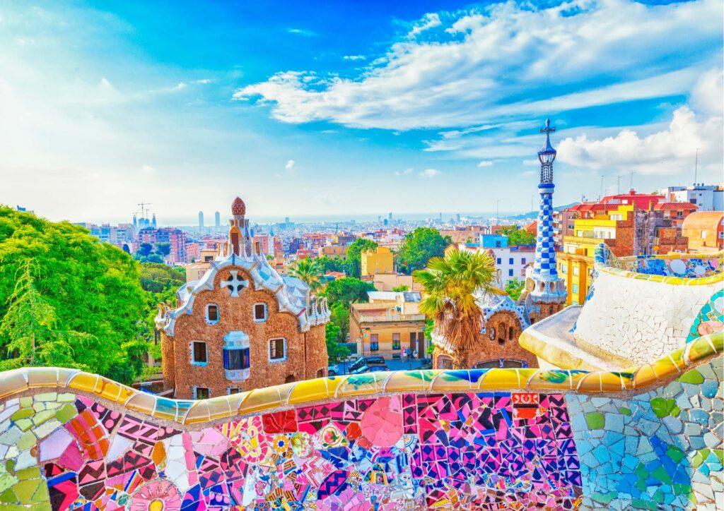 Vista panoramica della città da Park Guell